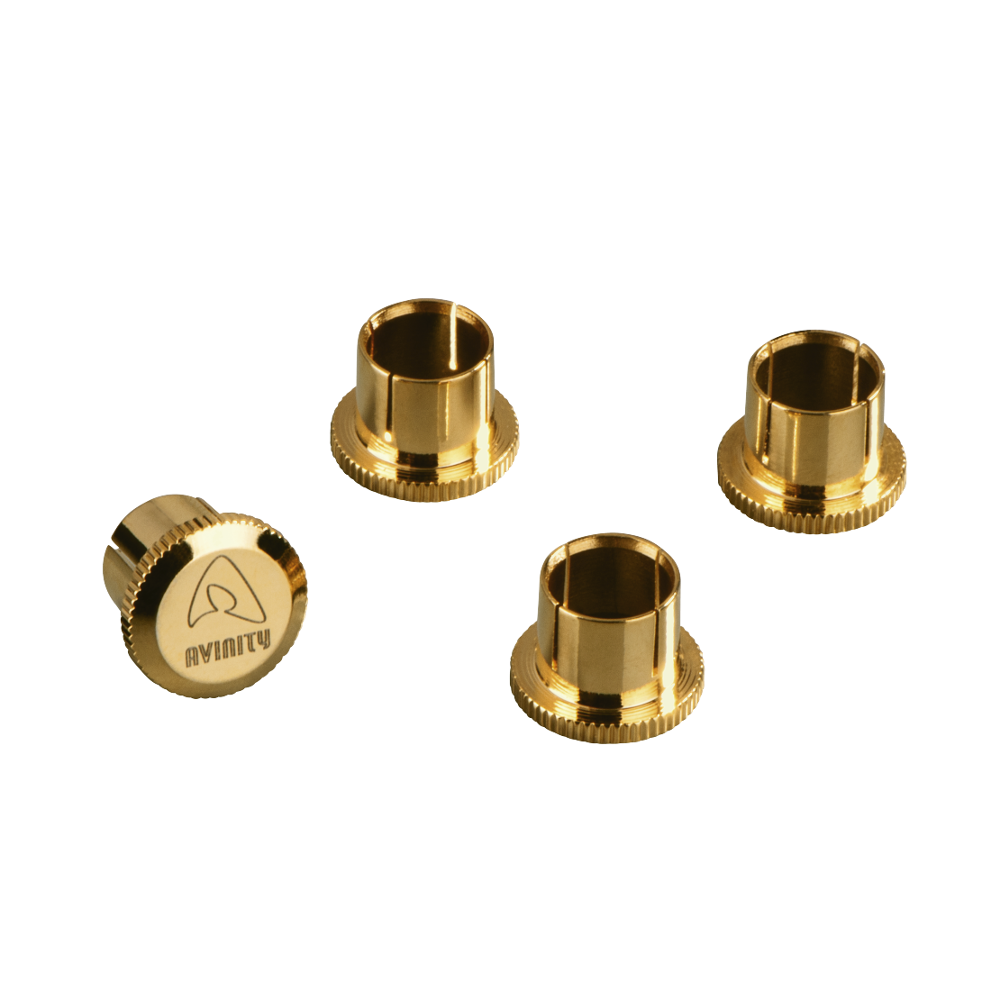 abx High-Res Image - Avinity, RCA Protective Caps, gold-plated, set of 4