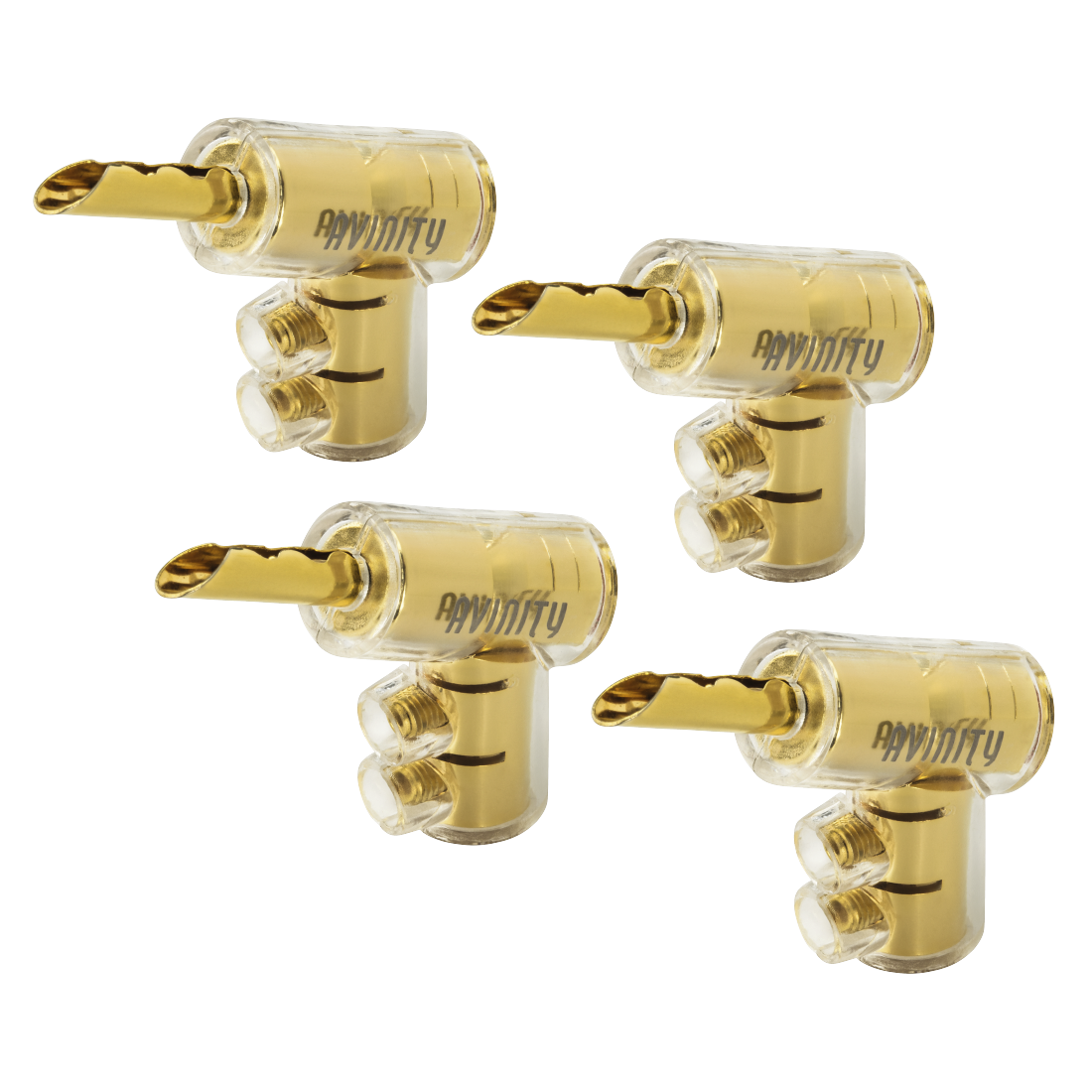 "abx High-Res Image - Avinity, ""BC-116"" Banana Plug, gold-plated, set of 4 with Allen Key"