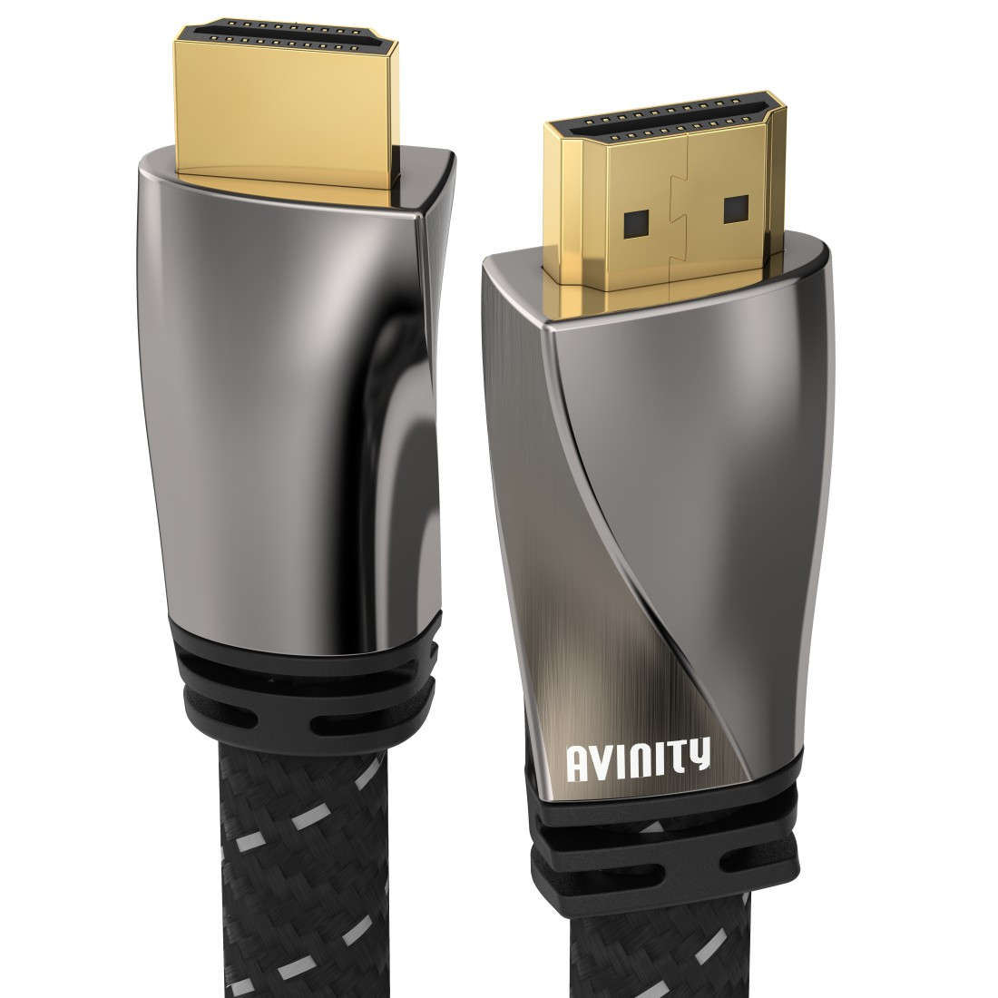 abx Druckfähige Abbildung - Avinity, High Speed HDMI™-Kabel, St. - St., Filter, oval, vergoldet, Ethernet, 3 m