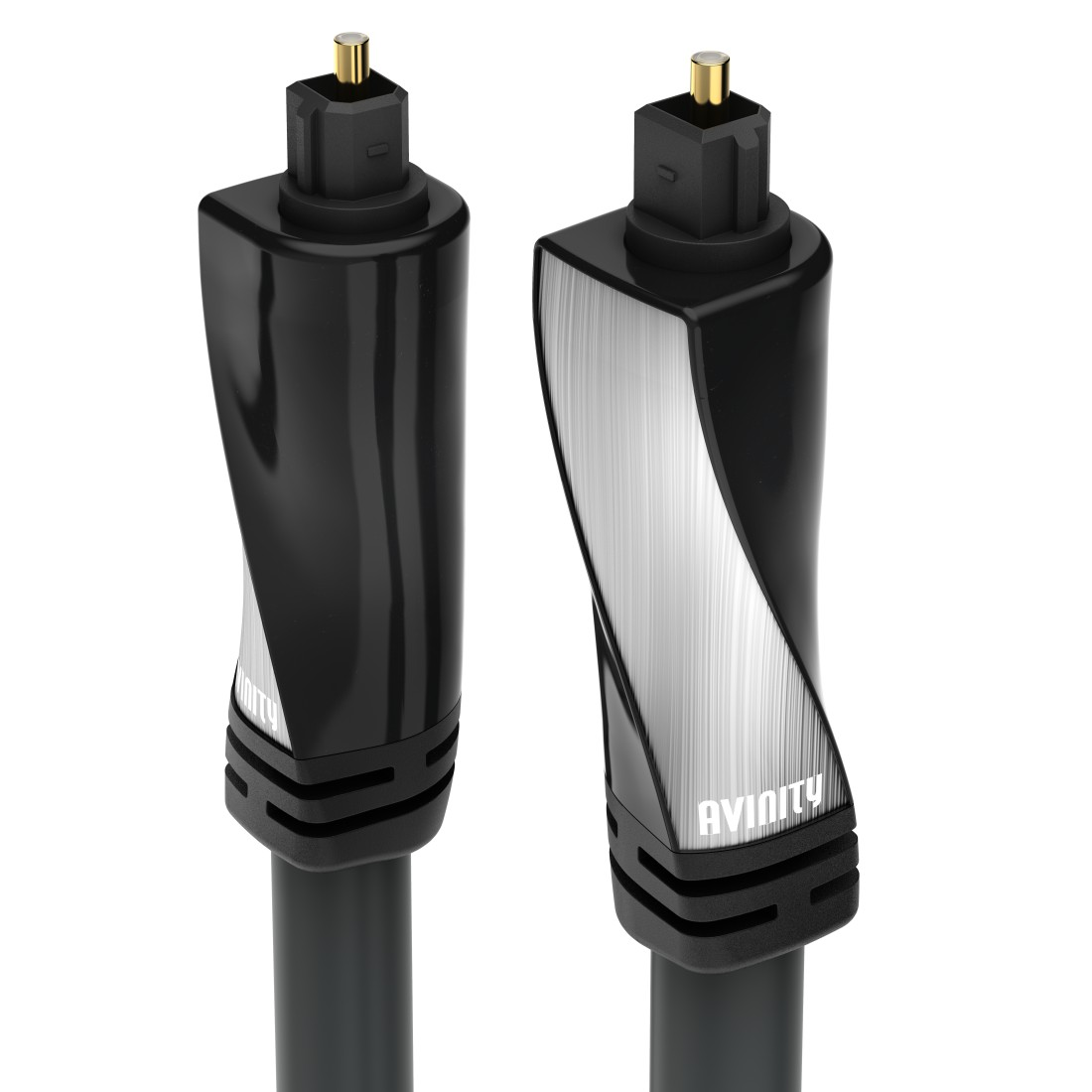abx High-Res Image - Avinity, Audio Optical Fibre Cable, ODT plug (Toslink), polished, 1 m