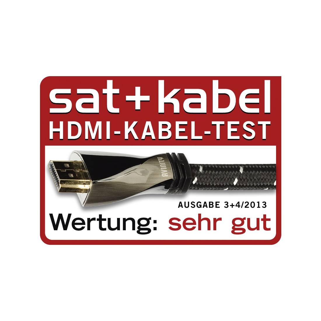 tex2 Druckfähiges Testurteil 2 - Avinity, High Speed HDMI™-Kabel, St. - St., Gewebe, Filter, vergoldet, Ethernet, 1 m