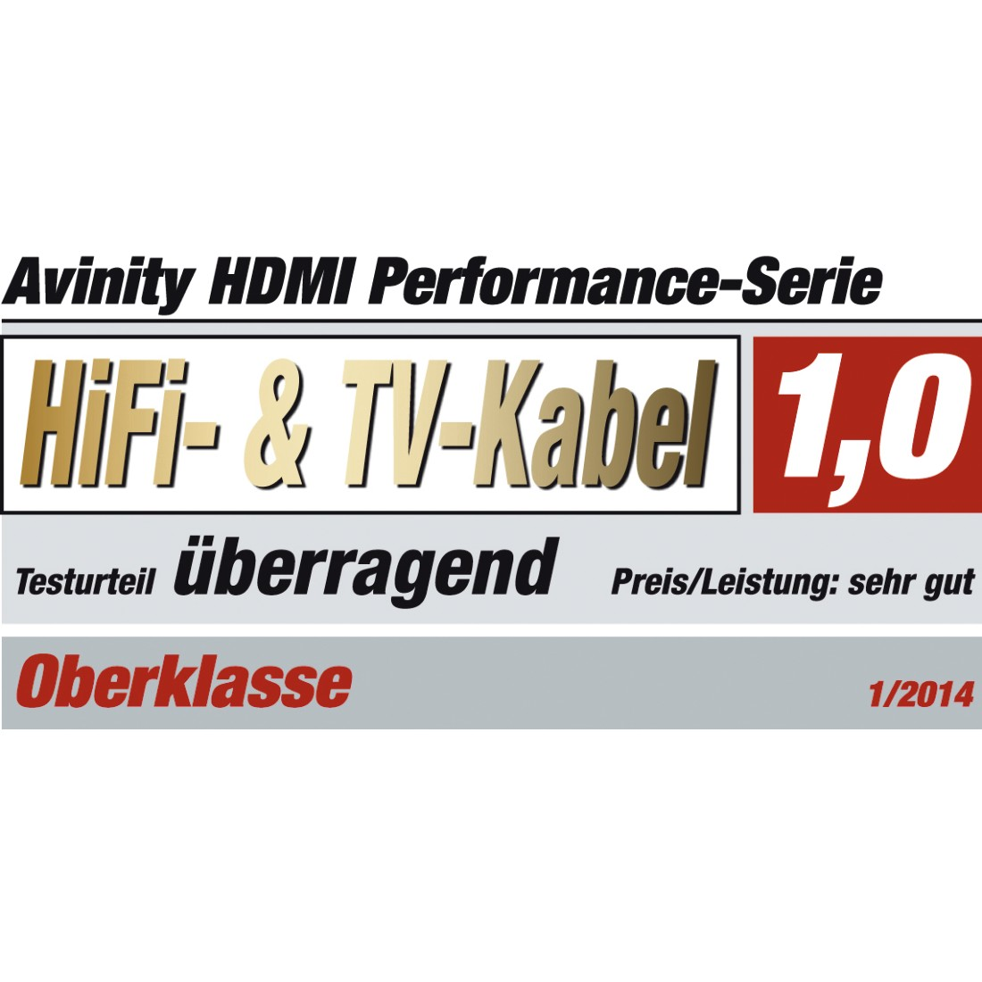 tex6 Druckfähiges Testurteil 6 - Avinity, High Speed HDMI™ Cable, Pl. - Pl., Fabric, Filter, gold-plated,Ethernet,7 m